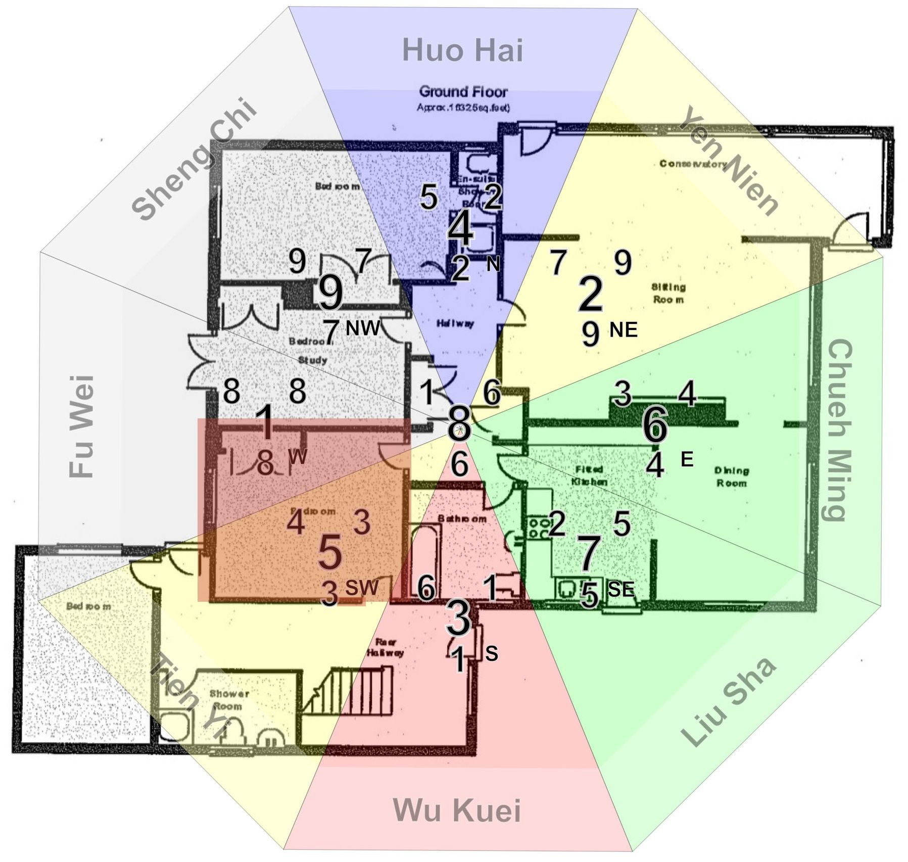 Bilderesultat for feng shui bagua map free image feng for Feng sui house