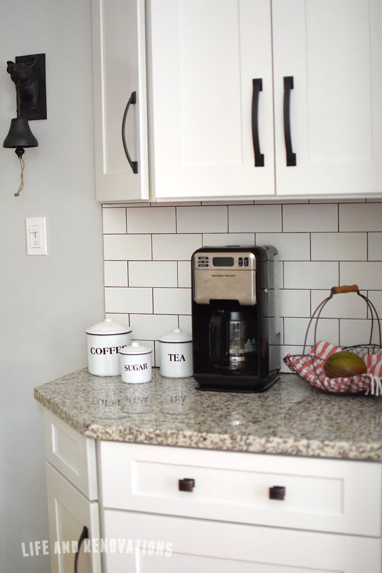 White subway tile with dark grout luna pearl garnite condo white subway tile with dark grout luna pearl garnite dailygadgetfo Images