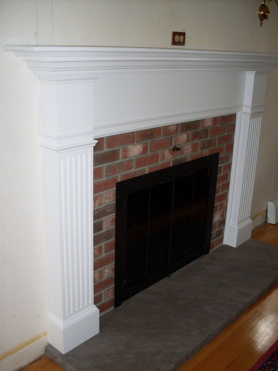 White Brick Fireplace Living Room