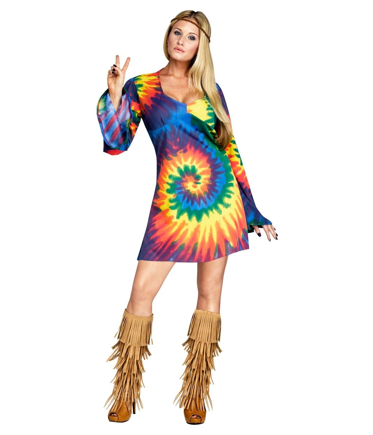 Brand New 1960s Peace Love Hippie Woodstock Adult Costume