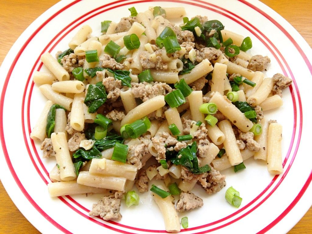 Ground Turkey \u0026 Spinach Pasta Recipe / Gluten Free / Anti