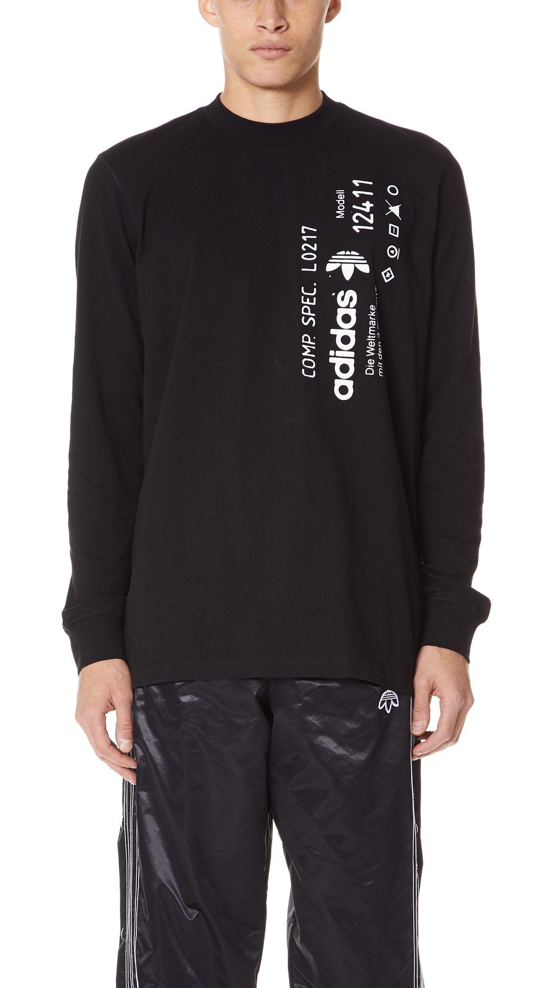 9bb70dba41aa ADIDAS ORIGINALS BY ALEXANDER WANG AW GRAPHIC LONG SLEEVE TEE.  #adidasoriginalsbyalexanderwang #cloth #