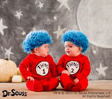Dr. Seuss; Thing 1 and Thing 2 Baby Costume  sc 1 st  Pinterest & Dr. Seuss; Thing 1 and Thing 2 Baby Costume | Halloween Costumes and ...