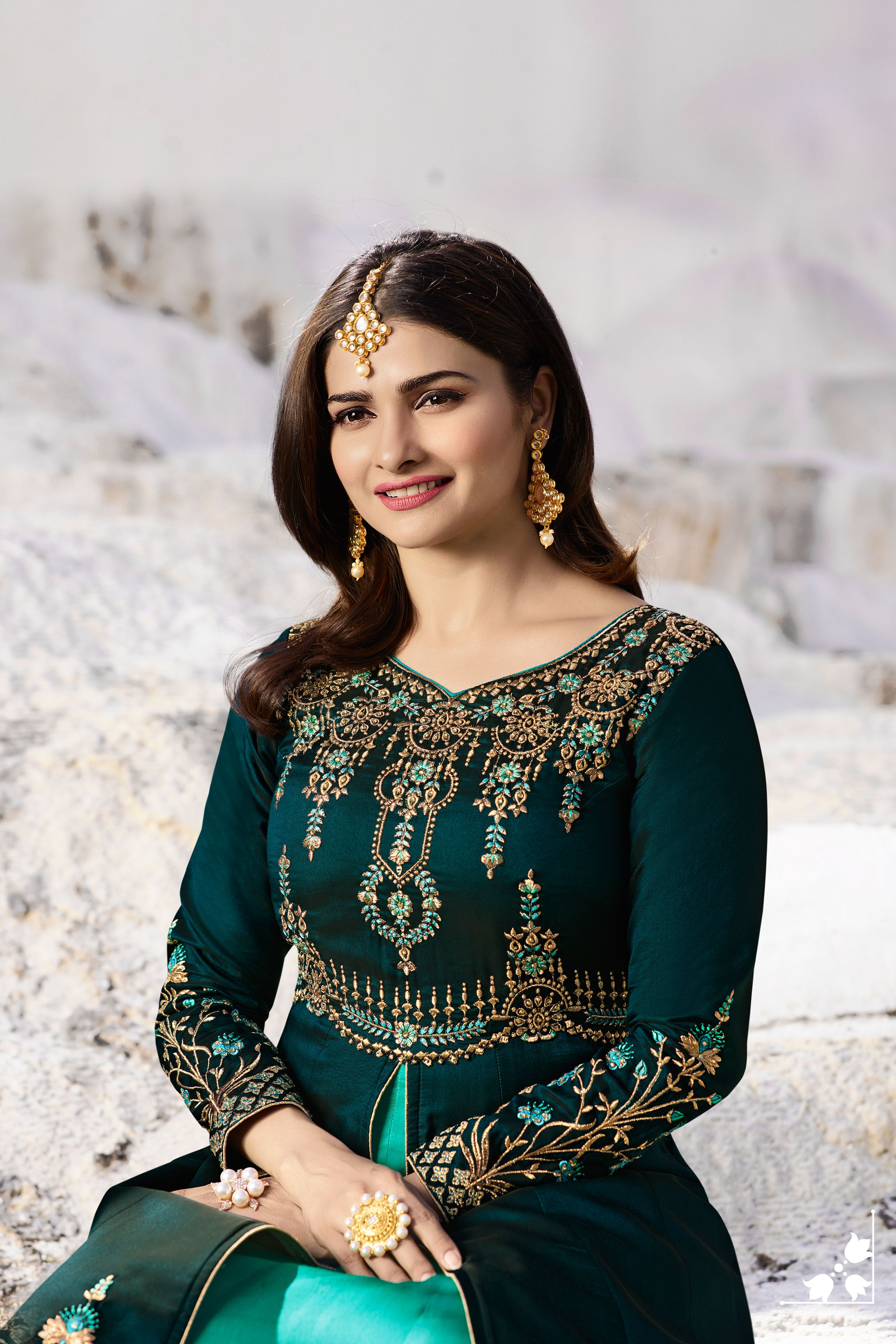 5c107211a5 Wine and Baby Pink Embroidered Long Sleeve Suit is Georgette Silk Top and  Santoon Bottom with Georgette Dupatta worn by Prachi Desai.