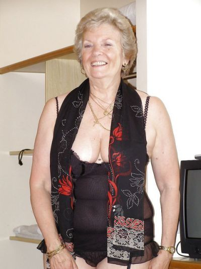 grannies cleavage saggy Proud
