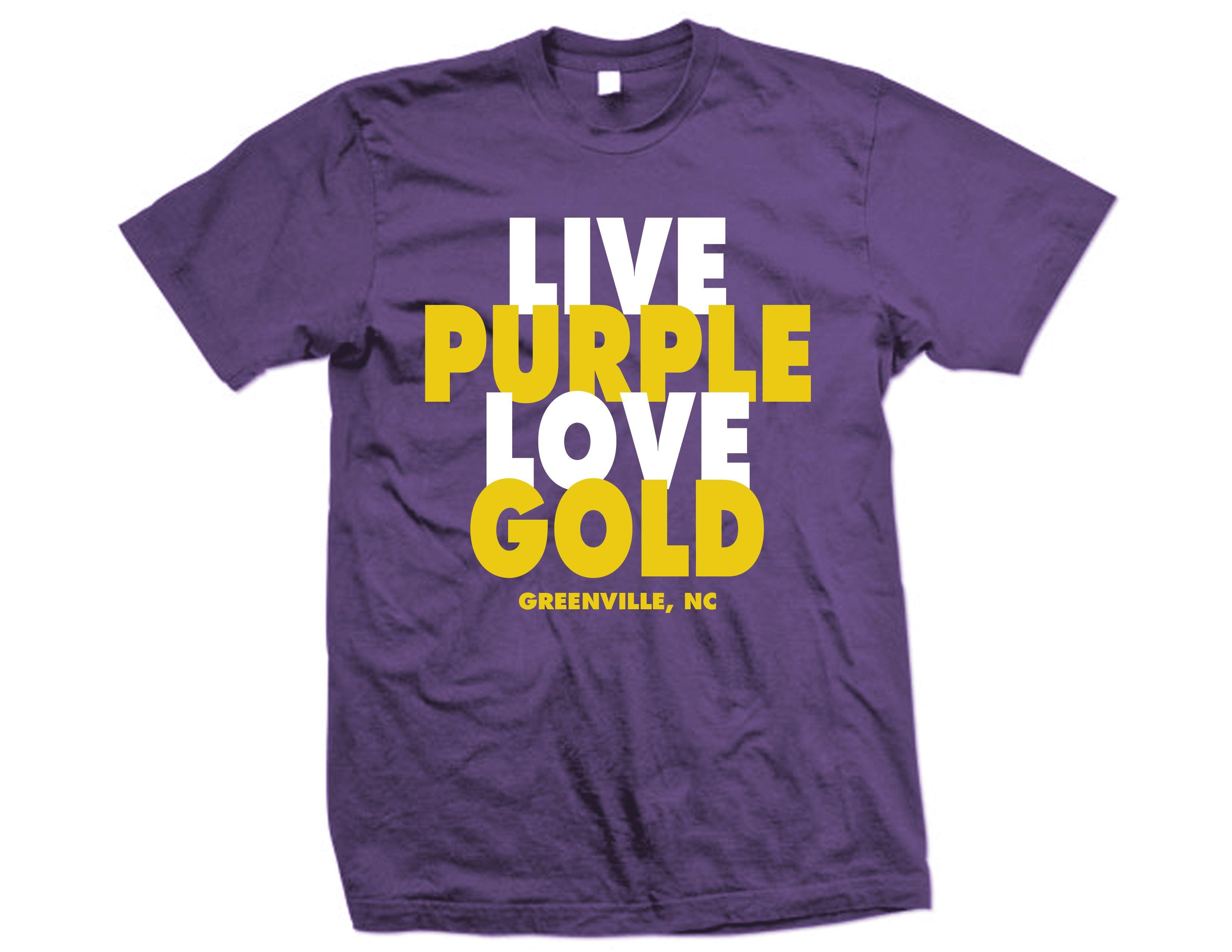 Color printing ecu - 32 Days Till Ecu Pirate Football Live Purple Love Gold 15 99