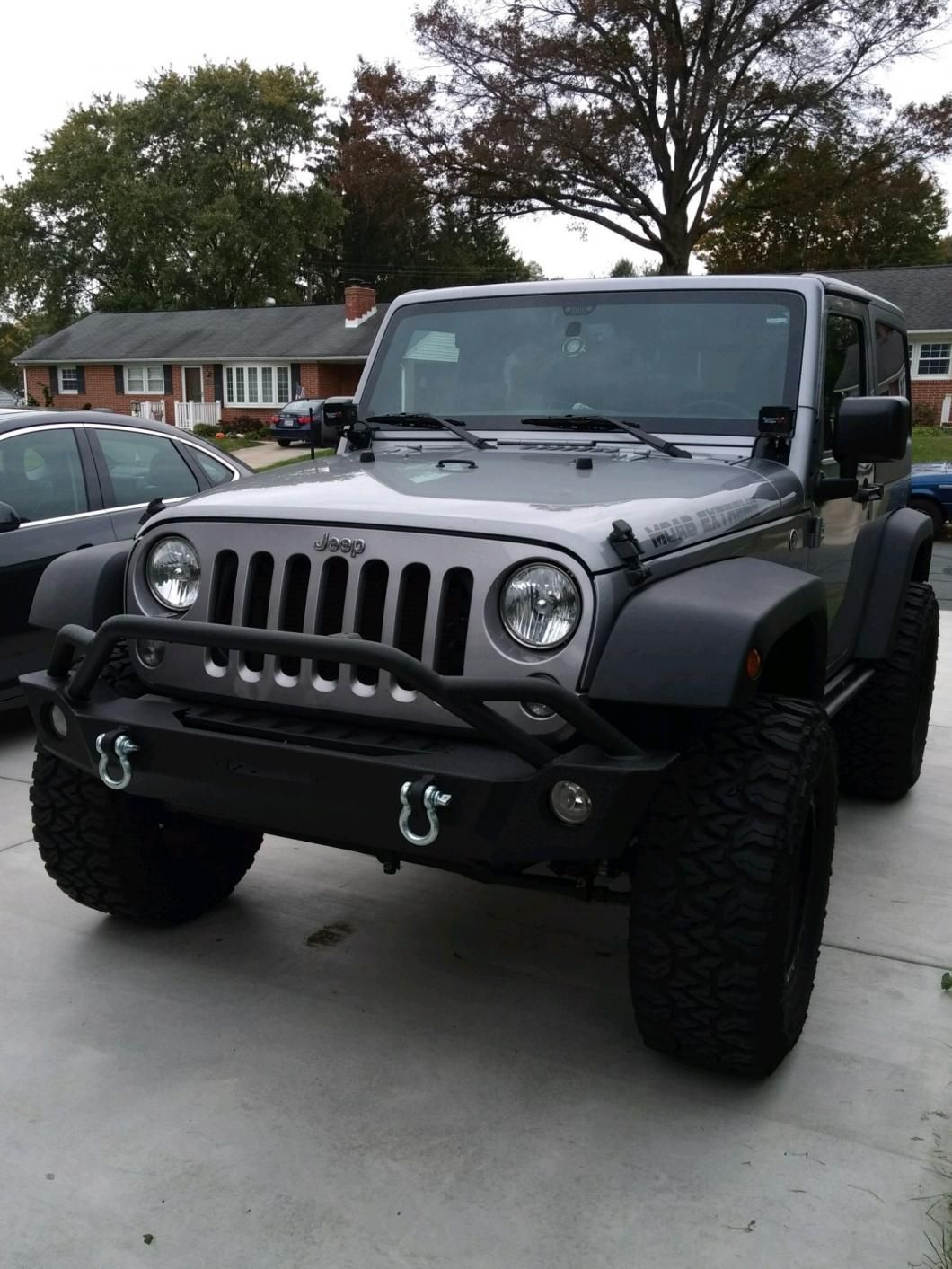 Front Bumper Barricade Jeep Wrangler Extreme Hd J103684 07 18 Jeep Wrangler Jk In 2020 With Images Jeep Cars Jeep Wrangler Jk Jeep Wrangler Bumpers