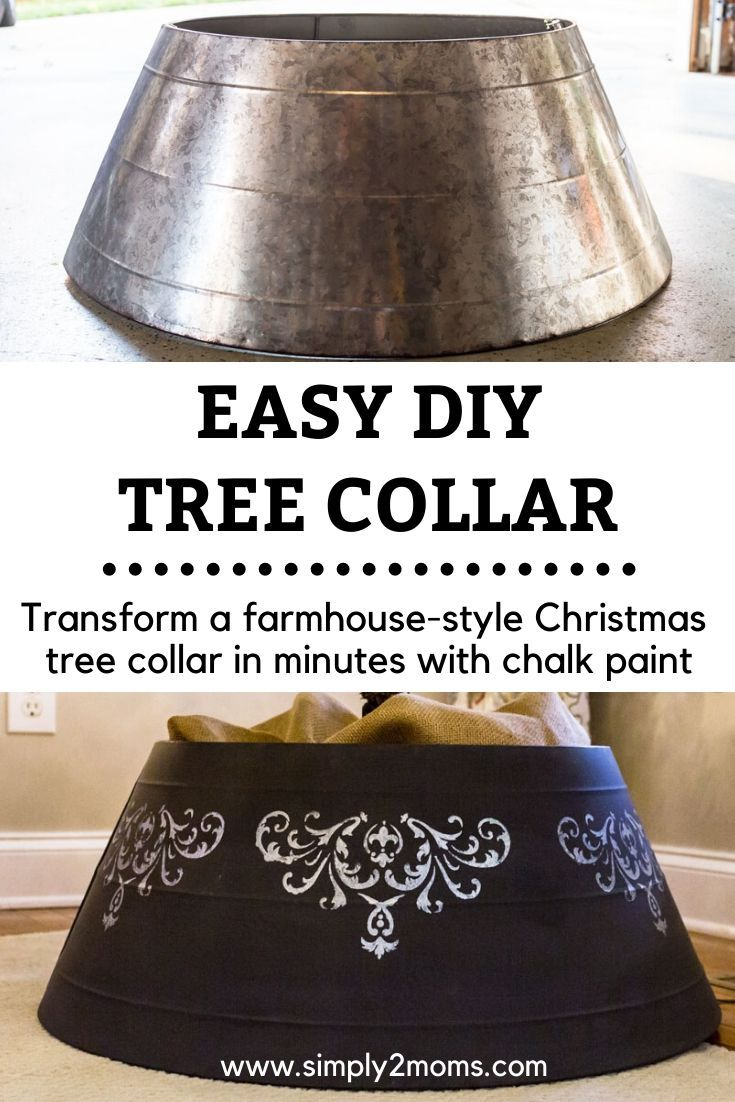 Christmas Tree Collar Makeover (With images) Easy diy