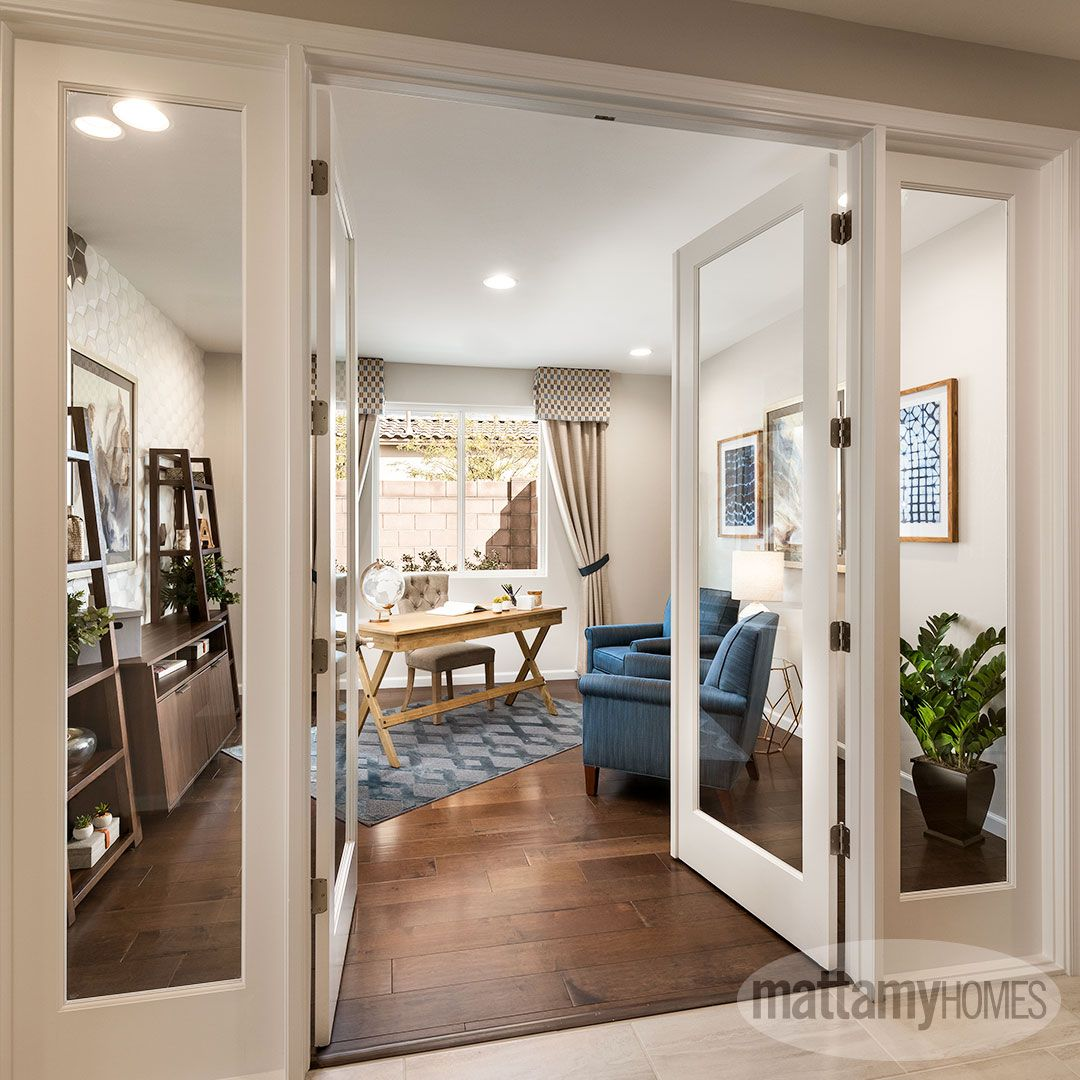 Add Glass French Doors To Your Converted Home Office And Open Up