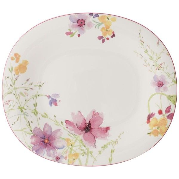 Villeroy u0026 Boch Mariefleur Oblong Dinner Plate ($35) ? liked on Polyvore featuring home  sc 1 st  Pinterest & Villeroy u0026 Boch Mariefleur Oblong Dinner Plate ($35) ? liked on ...