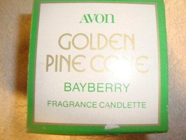 Avon Golden Pine Cone Bayberry Fragrance Candelette Fragrance