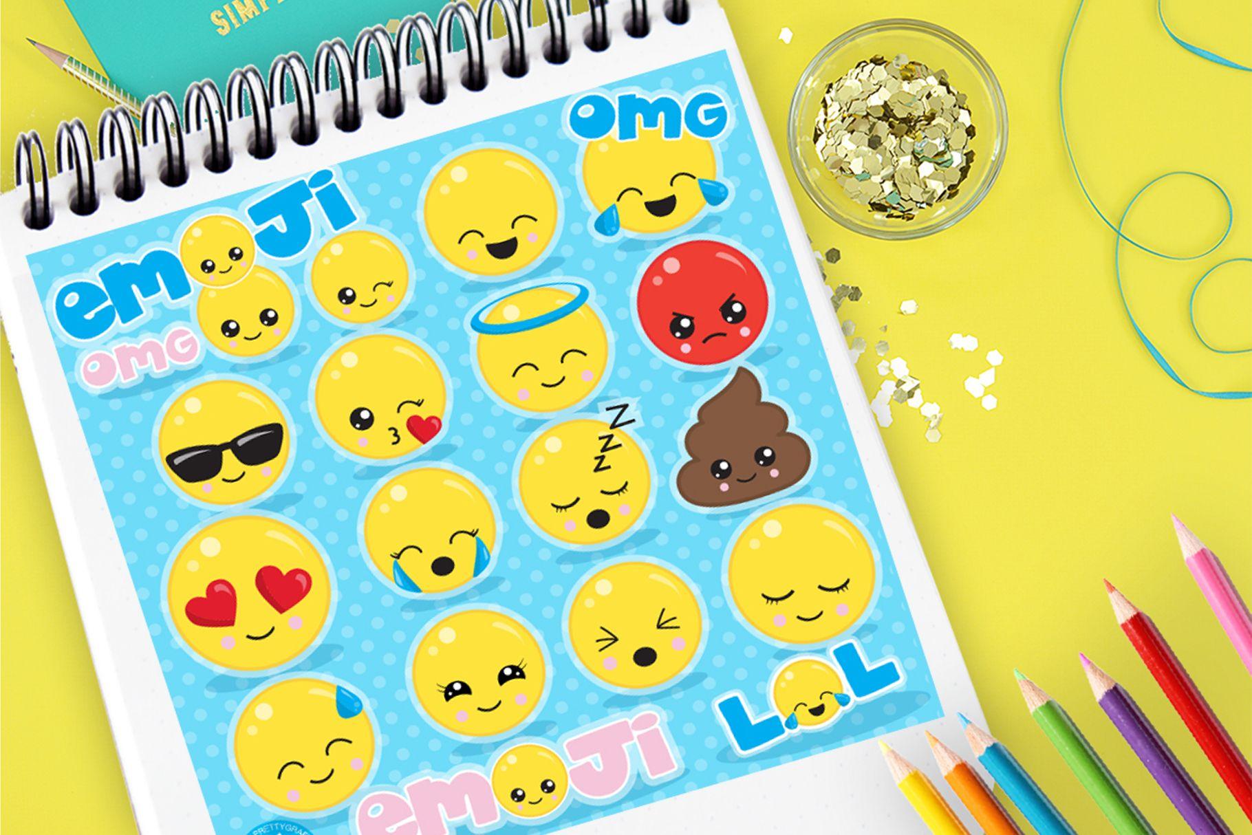 Emoji Set (Graphic) by Prettygrafik Emoji set, Emoji