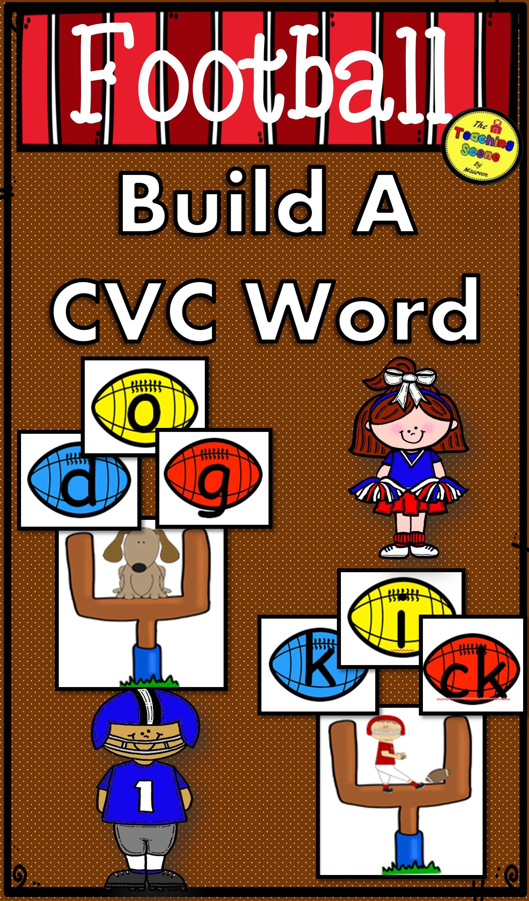 Football Build A Cvc Word Phonics Game