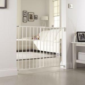 Lindam Extending Metal Gate White Safetots Co Uk Stair Gate Baby Gates Safety Gate