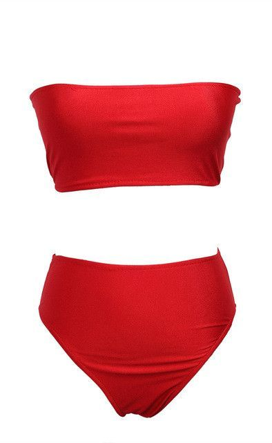 190e8911afa Sexy Solid Berif bandeau bikini Set high waist swimsuit Women bathing suit  swimwear Swimsuit 2017 maillot de bain biquini