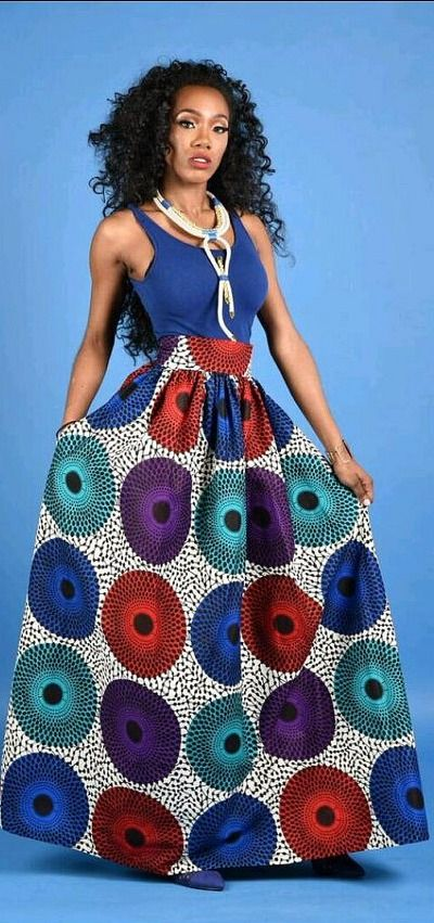 SALE NEW Vera circle African Print Maxi skirt. Ankara | Dutch wax ...