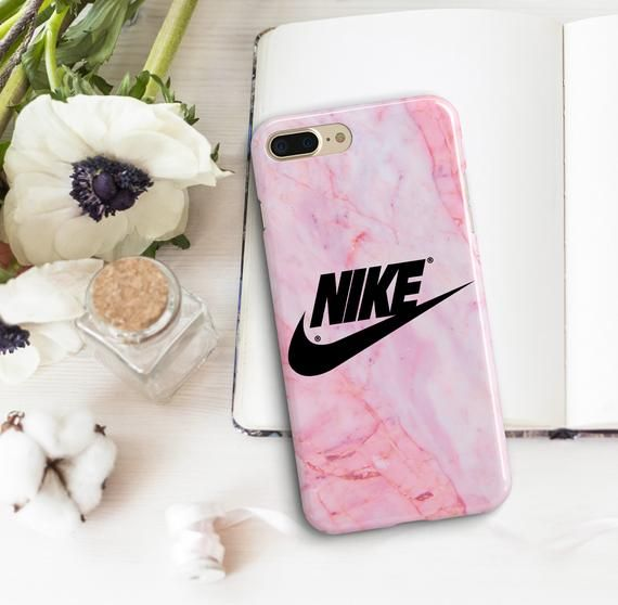 74a0102640020 Pink Marble Nike Cases iPhone XS Max 8 Plus 7 10 Black Nike Covers ...
