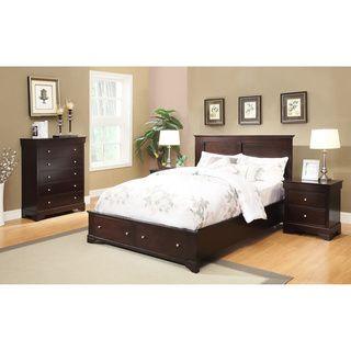Abbyson Living Wilshire 4-piece Espresso Storage Bedroom Set | Ideas ...