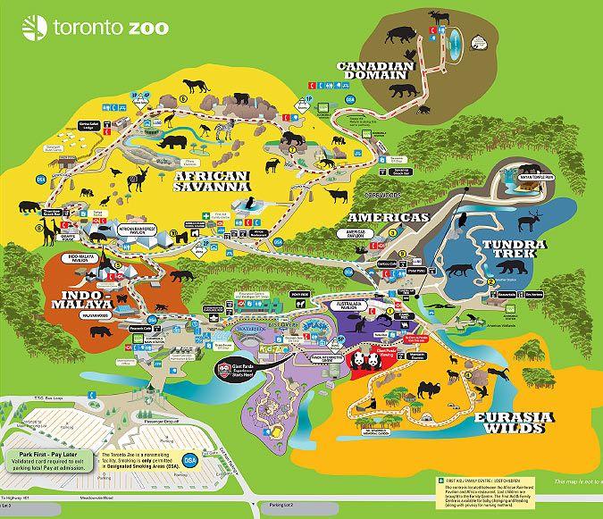 Toronto Zoo Toronto Zoo Map Zoos Pinterest Zoos and