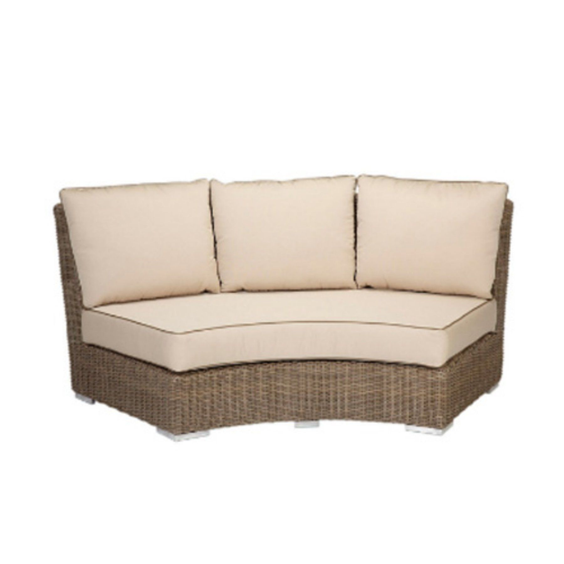 Outdoor Sunset West Coronado Wicker Curved Patio Loveseat 2101