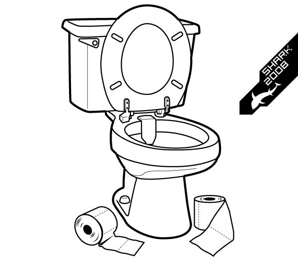 Toilet Vector Illustration Toilet Illustration Vector Illustration Toilet Drawing Cartoon