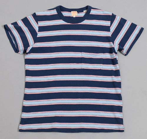 2a1553f1 LEVI'S VINTAGE CLOTHING - 1960s Striped Tee, Medieval Blue | Our ...