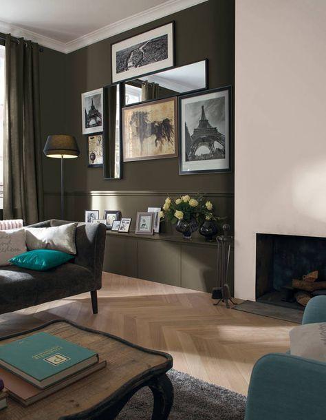 peindre un mur en deux couleurs dynamisez vos espaces gr ce un mur bicolore elle. Black Bedroom Furniture Sets. Home Design Ideas