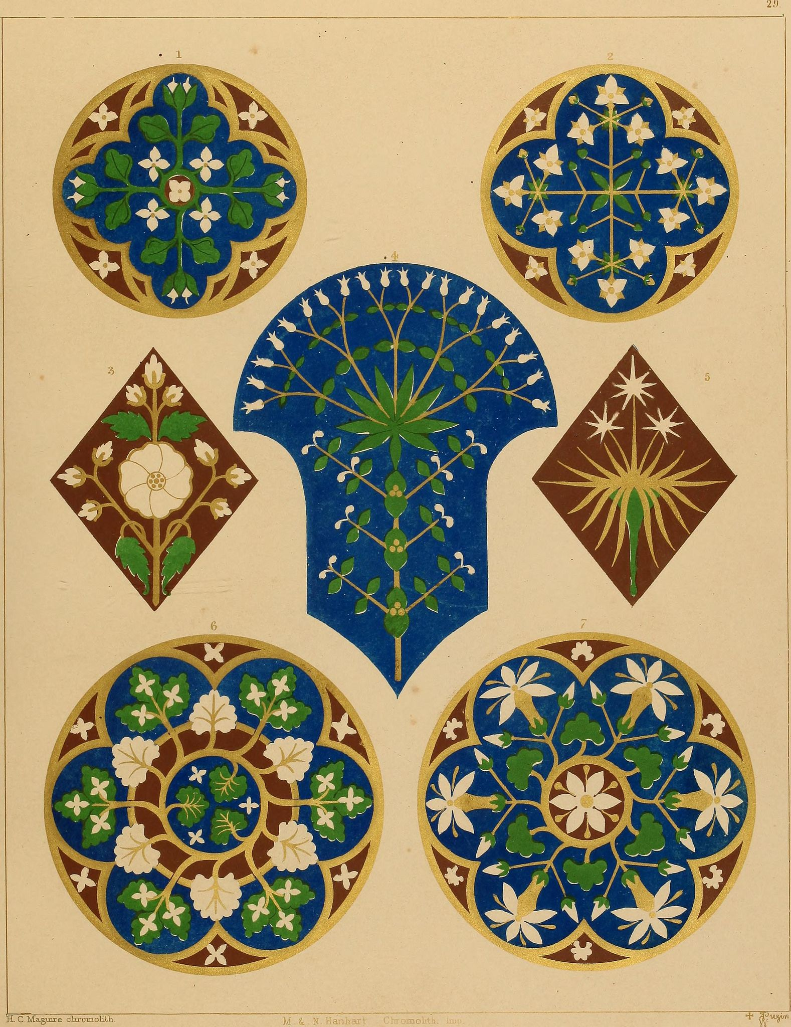 Image From Page 123 Of Floriated Ornament A Series Of Thirty One Designs 1849 One Design Clark Art Arabic Pattern