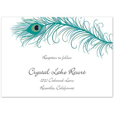 Peacock Feathers - Reception Card nice dress Pinterest Peacock - fresh invitation to tender law definition