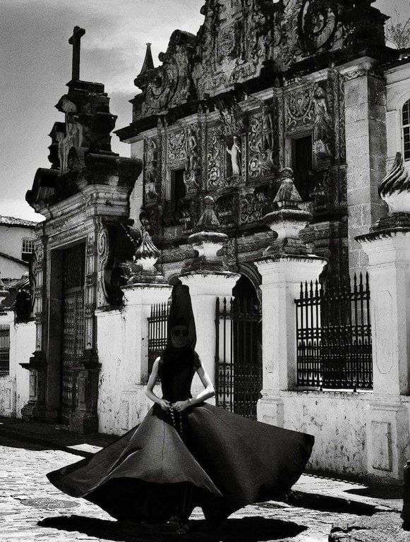 """""""Full of Grace"""": Izabel Goulart as a Baroque Nun by Giampaolo Sgura for Vogue Brazil February 2013"""