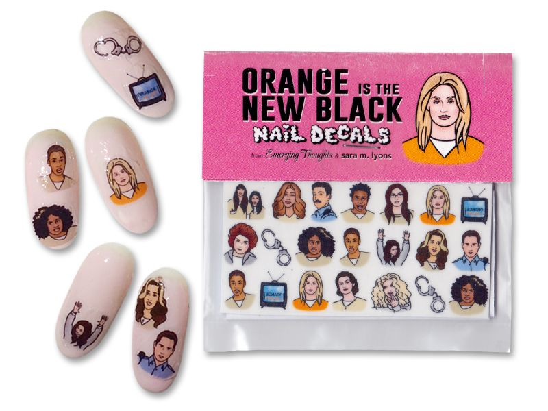 Orange is the New Black Nail Decals