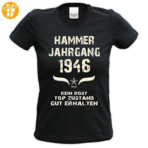 Shoppen Sie Damen Jahreszahl Motiv T-Shirt :-: Geburtstagsgeschenk  Geschenkidee für Frauen zum Geburtstag :-: Hammer Jahrgang 1961 :-: Girlie  kurzarm Shirt ...