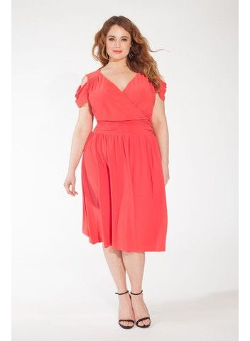 Marlena Dress in Coral