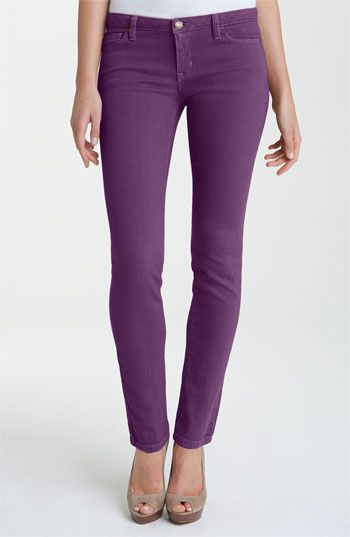 MICHAEL Michael Kors Color Skinny Jeans (Petite) in Iris. Purple ...