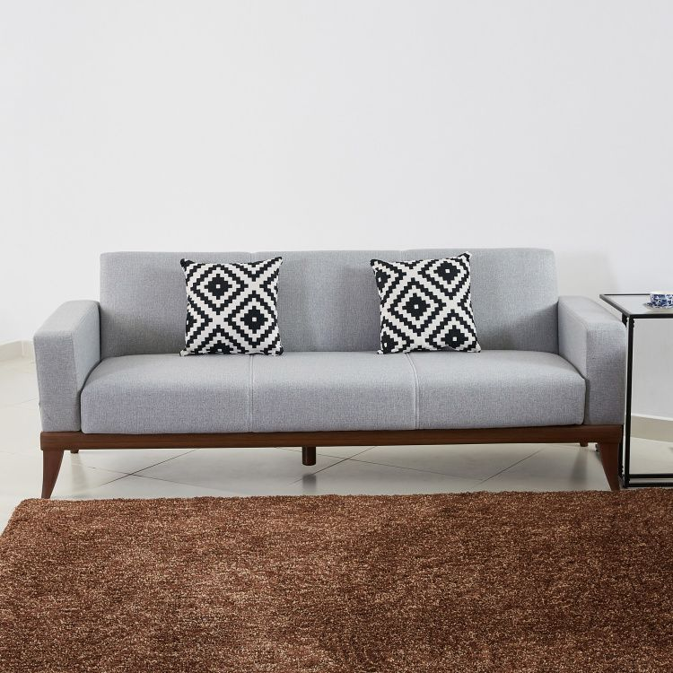 Triana 3 Seater Sofa Bed With Printed Cushions Grey 2 Years Against Any Manufacturing Defects 3 Seater Sofa Bed Sofa Bed Sofa