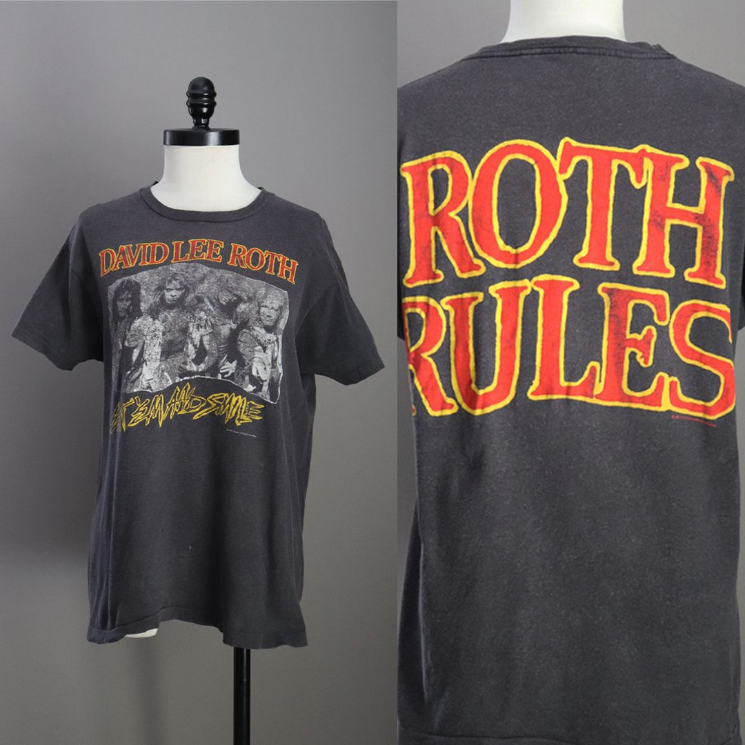 New On Etsy 1986 David Lee Roth Roth Rules Tee Xl Newonetsy Davidleeroth Rothrules Vintagerocktee Vintage Rock Tees Rocker Tee Vintage Outfits