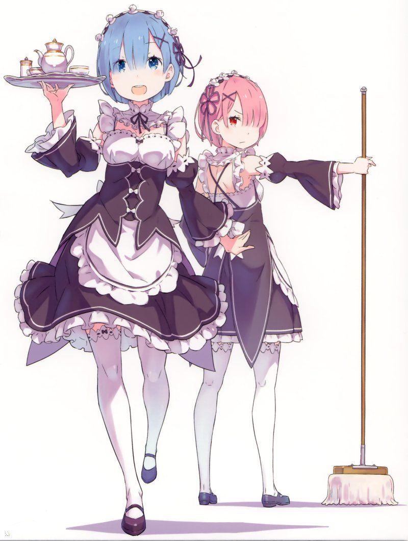 ReZero, Rem & Ram, official art Anime, Kỳ ảo và Song sinh