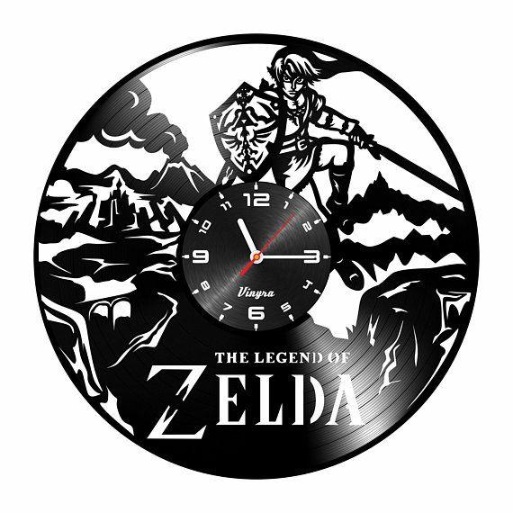 Zelda Wall Clock Vinyl Record Clock Zelda Vinyl Wall Poster Art Zelda Idea Gifts For Kids Boys Girls Nursery W Vinyl Record Clock Vinyl Record Art Record Clock