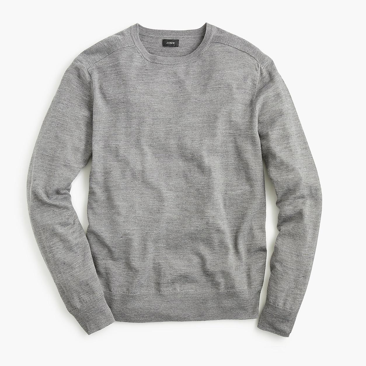 0d6d81bbe31 Cotton-Linen Blend Heather Crewneck Sweater. Cotton-Linen Blend Heather  Crewneck Sweater Men s Sweaters ...