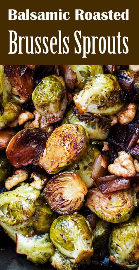 Balsamic Roasted Brussels Sprouts and Shallots Recipe   SimplyRecipes.com