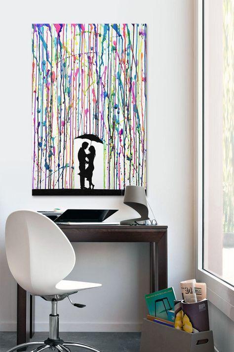 1001 ideen moderne leinwandbilder selber gestalten diy crafts malen malerei leinwand. Black Bedroom Furniture Sets. Home Design Ideas