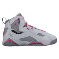 55581d31cb9b88 Jordan True Flight - Girls  Grade School - Grey   Pink