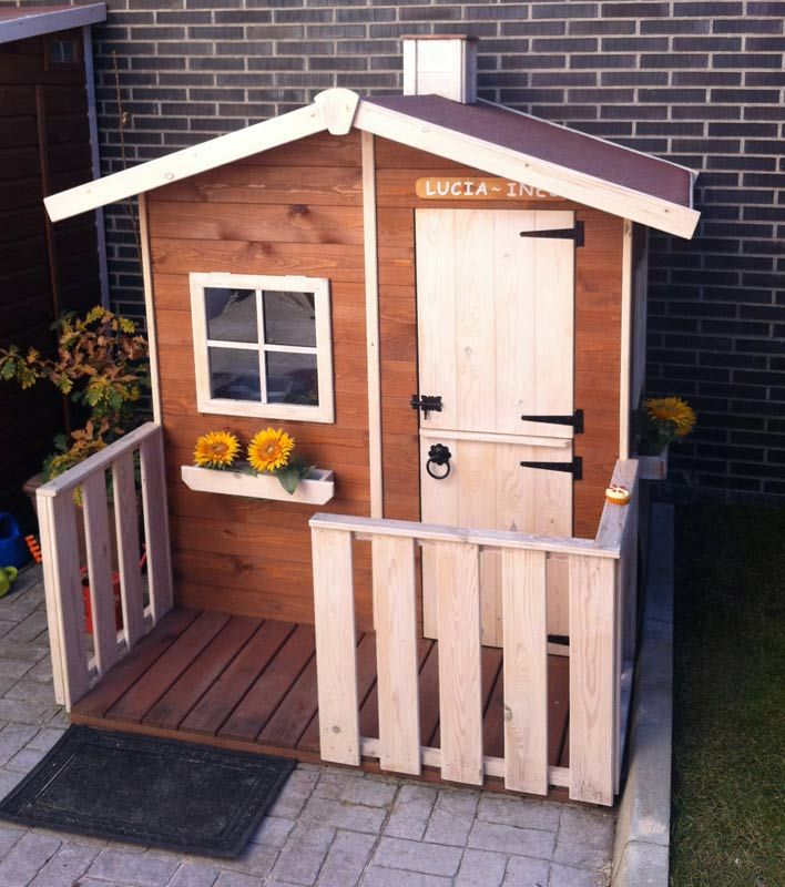 Casita infantil de madera para el jard n casa de madera for Casa madera ninos