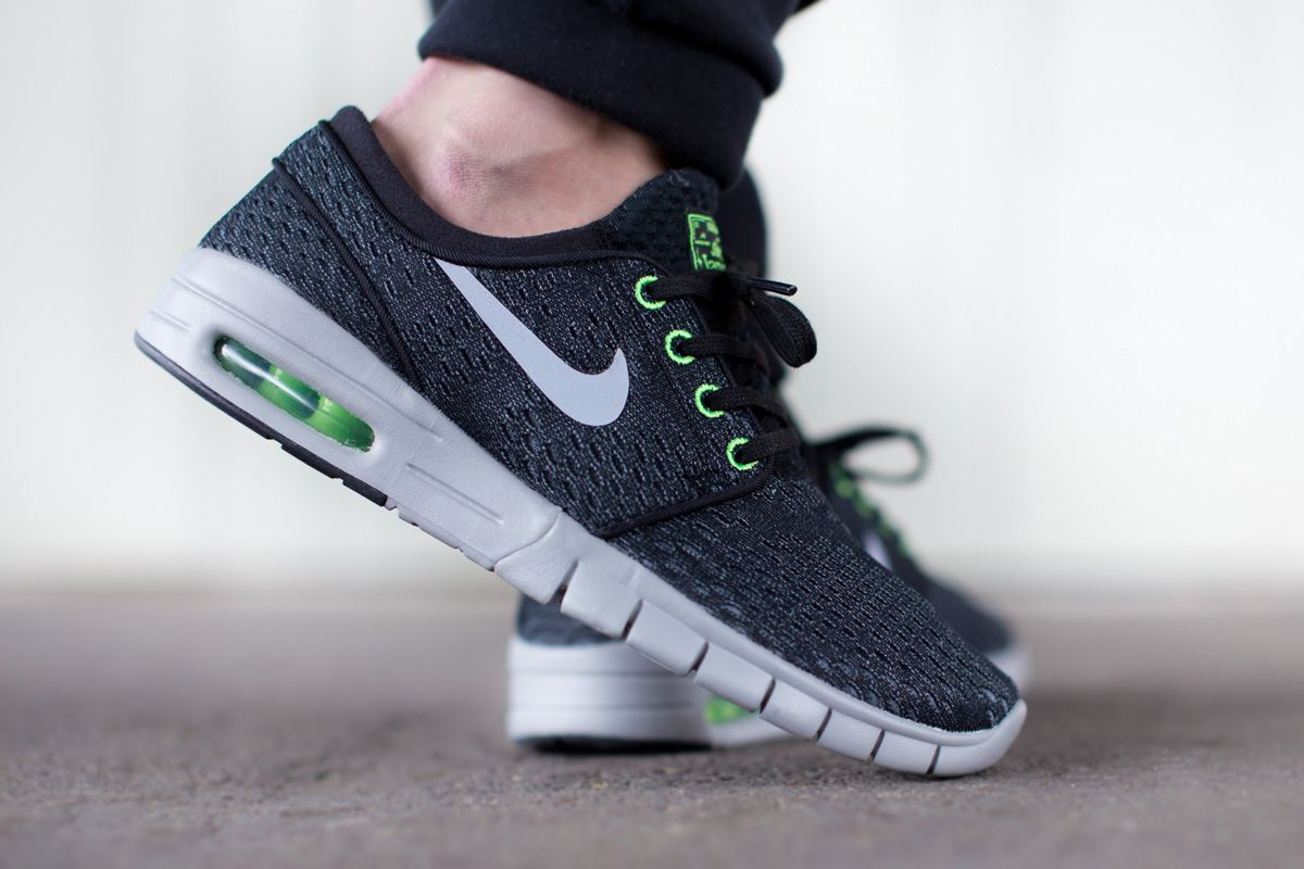 "Nike SB Stefan Janoski Max ""Wolf Grey & Flash Lime"""