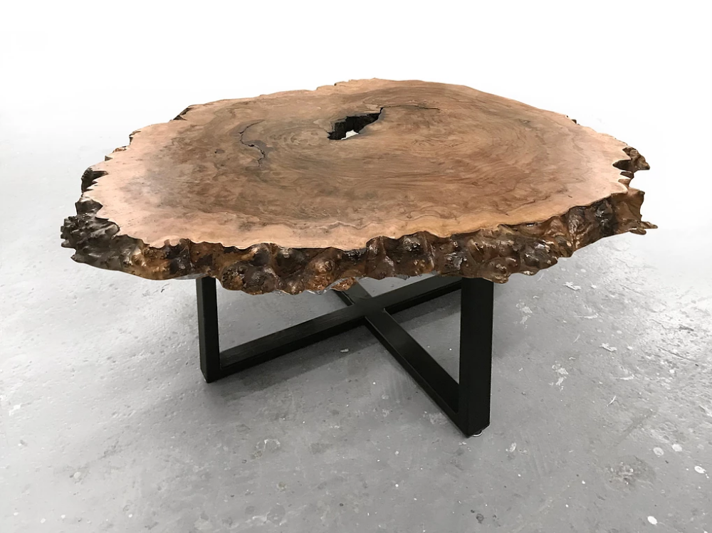 Round Live Edge Coffee Tables With Images Live Edge Wood Table Coffee Table Burled Wood Table