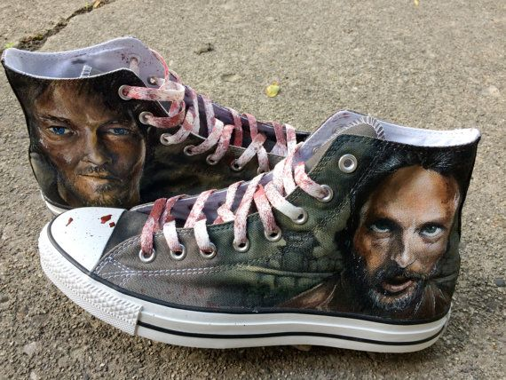 Style All Converse The Dead Custom My Walking Star Shoes 8n8ZqO