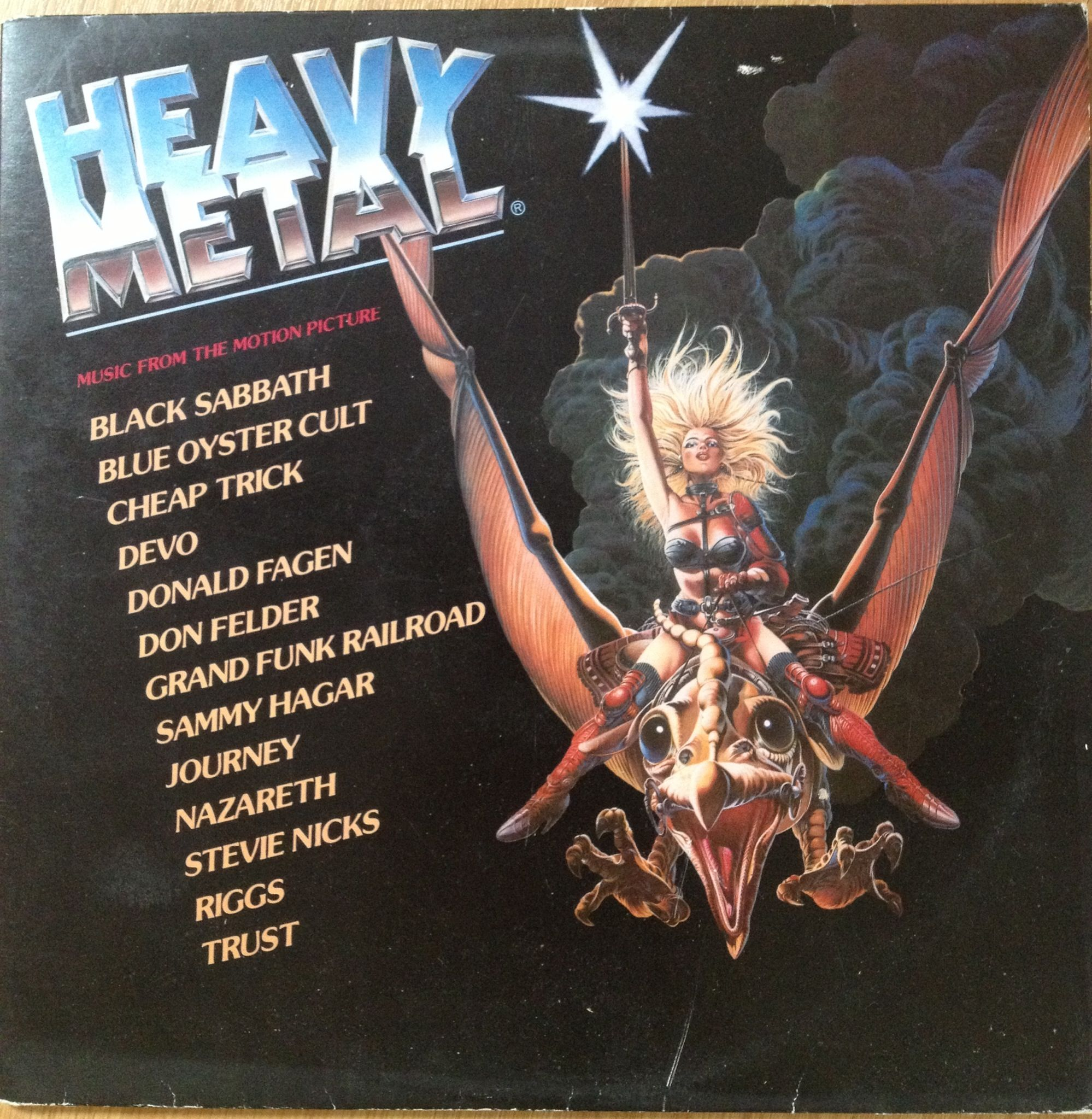 Various Artists Soundtrack From The Movie Heavy Metal 33t Heavy Metal Movie Heavy Metal Music Heavy Metal