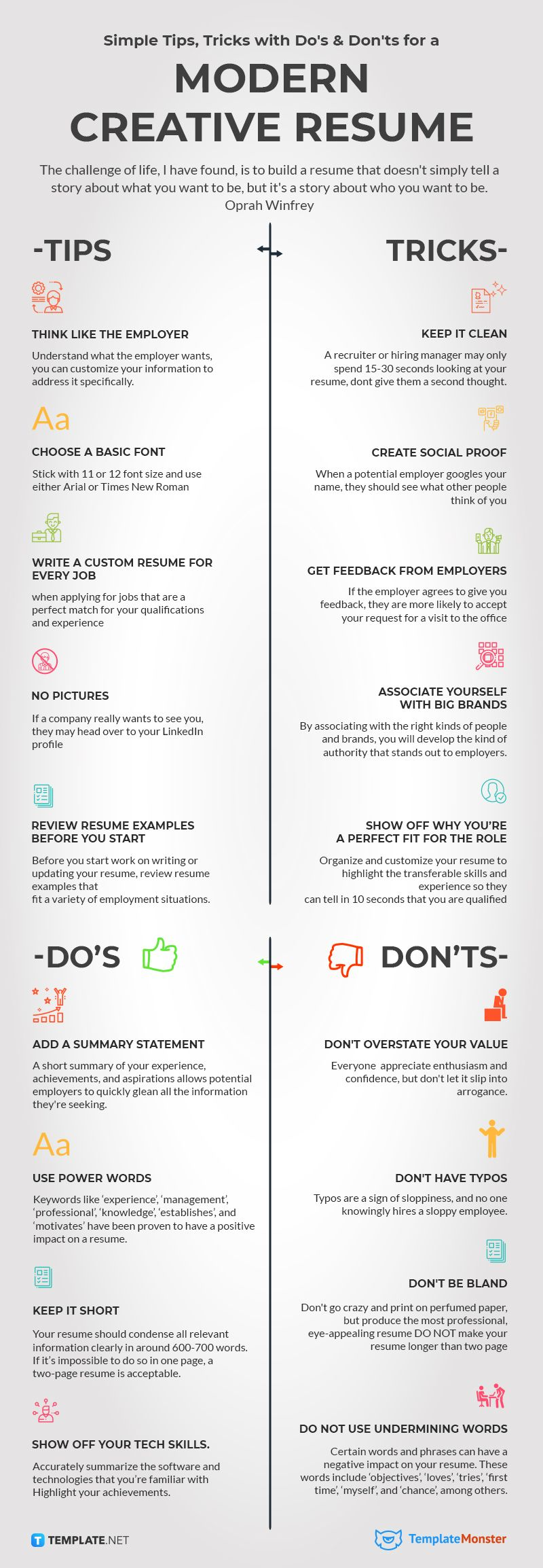 Tips and Tricks how to create good resume.