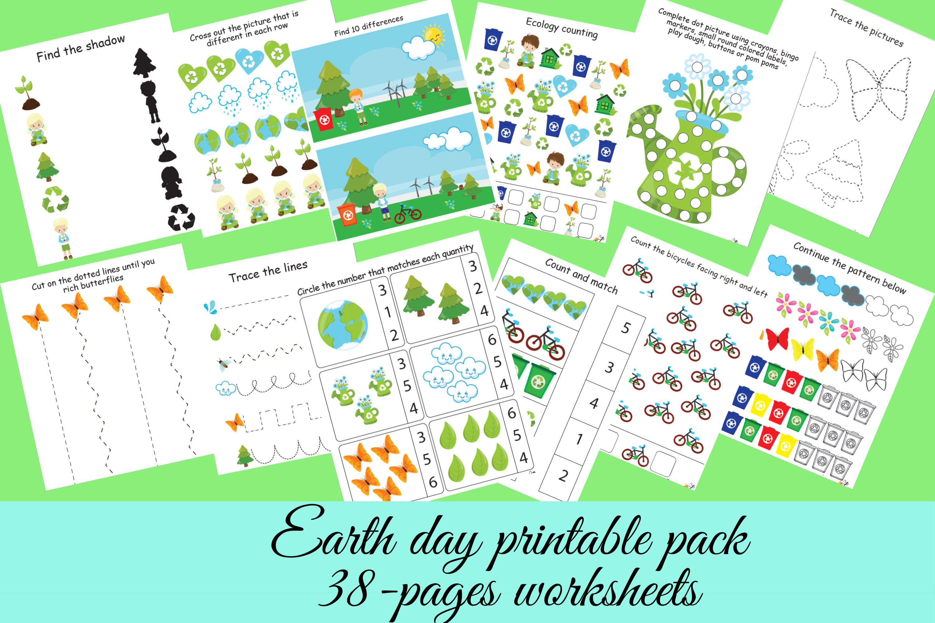 Ecology Worksheets Bundle Preschool Printables Earth Day