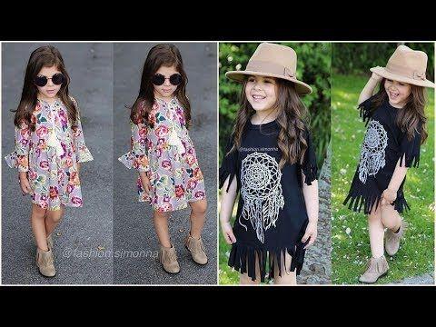 14773ed3e ملابس اطفال صيفي بنوتات للعيد 2018 , اجمل هدوم اطفال بنات صغار للصيف 2018 -  YouTube
